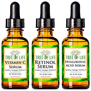 Anti aging products Anti Aging Serum 3-Pack for Face – Vitamin C Serum, Retinol Serum, Hyaluronic
