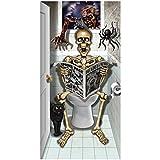 Spassprofi Horror Türposter Skelett auf Toilette ca.