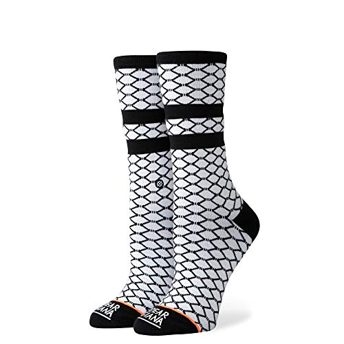 Stance Fish Nets White SM (Women's Shoe 5-7.5)
