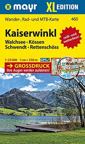Kaiserwinkl XL: Wander-, Rad- und MTB-Karte. GPS-genau. 1:25000: WM 460