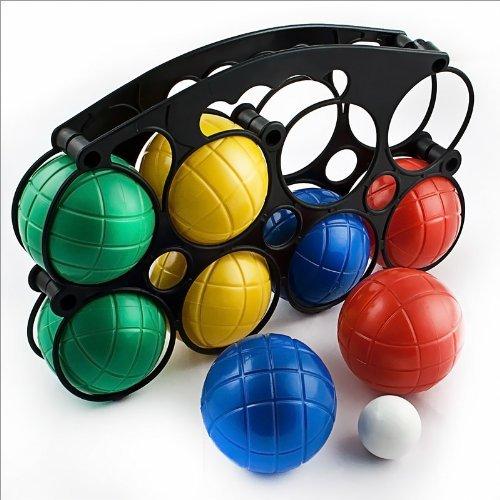 Hillington Boccia Boules Set with 8 Balls in 4 Colours, Jack and Bowls...