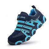 SITAILE Zapatillas Deportivas para Niños Antideslizante Calzado de Running Correr para Exterior Interior, Azul, EU27