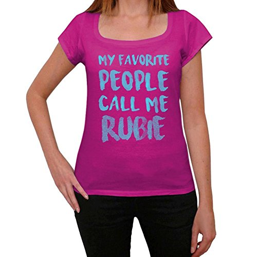 One in the City My Favorite People Call Me Rubie Mujer Camiseta Rosa Regalo De Cumpleaños