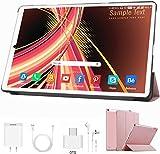 Tablet 10 Pulgadas 4 GB RAM 64GB ROM/128GB Expandido Android 9.0 Ultrar-Rápido Tablets 4G Dual SIM / WiFi 8000mAh Batería Quad Core (GPS, Bluetooth, OTG, Netfilix,Type-C) - Certificación Google GMS