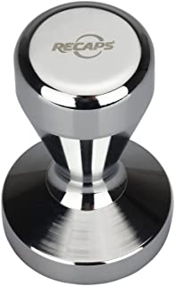 RECAPS Espresso Tamper 51mm Solid Iron with Chrome Plated Base | Modern Professional Barista| Espresso Coffee Tamper Flat ...