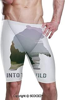 Men's Printed Jammer Quick Dry Swim Shorts Wild Animals Canada Surv Swimsuit