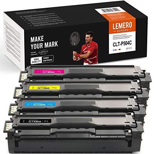 LEMERO SUPERX Toner compatibile per CLT-P504C CLT-K504S CLT-504 CLT C504S M504S Y504S per Samsung Xpress C1860FW C1810W Toner Samsung C1860 Samsung CLX-4195FW CLX-4195FN CLX 41952(B/C/C/C/C/C/C/C/Y).