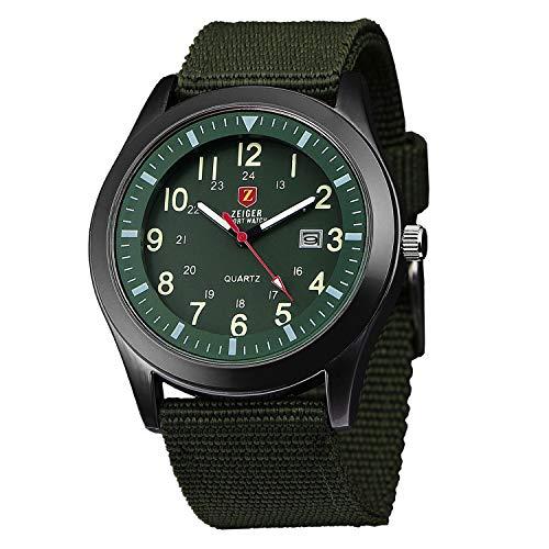 Herrenuhr ZEIGER Quarz Armbanduhr Sportlich Herrenuhren Analog Datum Schwarz Blau Grün