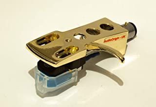 Gold plated Headshell, mount with cartridge and stylus, needle for Stanton STR8 20, STR8 30, STR8 50, STR8 80, STR8 90, STR8 100, STR8 150, - MADE IN ENGLAND