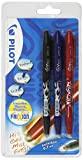 Pilot Frixion Rollerball Pen Set – Black/Blue/Red (Pack of 3)