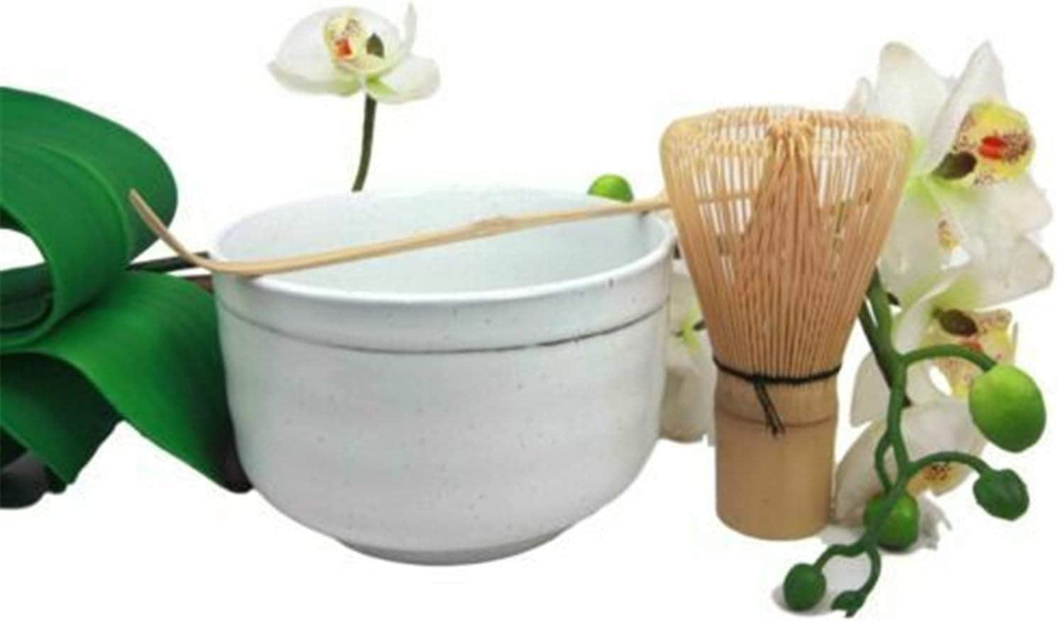 Veedaf Japanese Traditional Tea Ceremony Branded goods Set White w Matcha OFFer Bowl