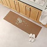Lindong Türmatte Fußabtreter Eingangsmatte Sauberlaufmatte Schmutzfangmatte Anti-Rutsch Füßmatte Türvorleger viele Motiv wählbar 40x120cm Coffee Löwenzahn