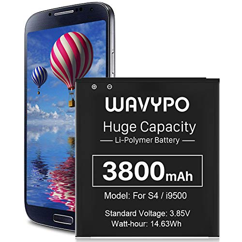 [3800mAh] Galaxy S4 Battery, Upgraded High Capacity Replacement Battery for Samsung Galaxy S4 EB-B600BE,AT&T I337,Verizon I545, Sprint L720,T-Mobile M919,R970,I9500,I9505,LTE I9506 [3 Years Service]