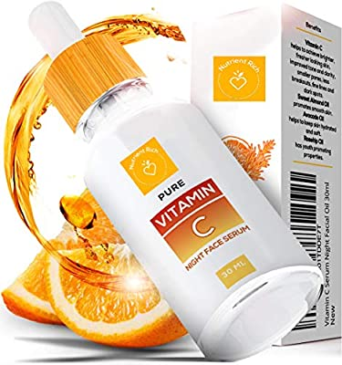 Vitamin C Serum | New Nano Organic Science in Anti Aging | Nano Purity - The Most Biologically Pure & Potent Product on the Market | Vitamin C Serum for Face with Hyaluronic Acid