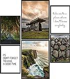 Papierschmiede® Mood-Poster Set Irland | Bilder als
