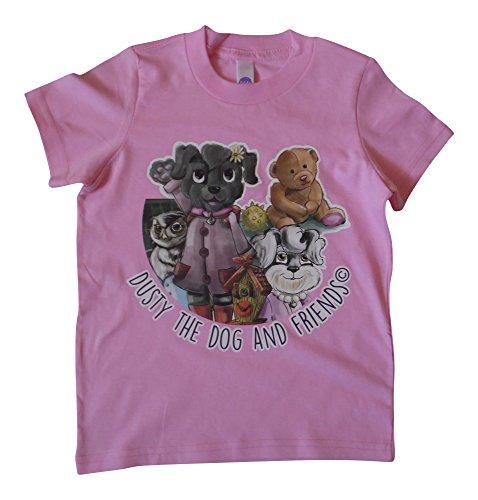 Dusty the Dog and Friends - T-shirt - Personnage - Bébé (garçon) 0 à 24 mois - rose - XXXXXS