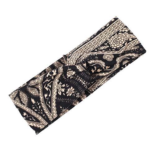 MYSdd Bandeau de Fleur pour Femme Imprimé Floral Bandana élastique Cross Knot Large Elastic Girl Hairband Accessoires pour Cheveux - 22