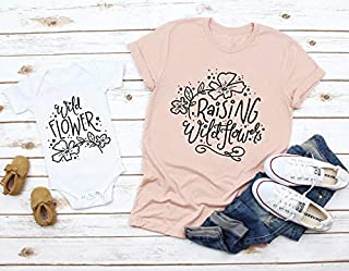 Mommy and Me Shirts, Raising Wildflowers, Wildflower, Mother Daughter Shirts, Mommy and me matching shirt,s Mother Son Shirts, Mom Daughter