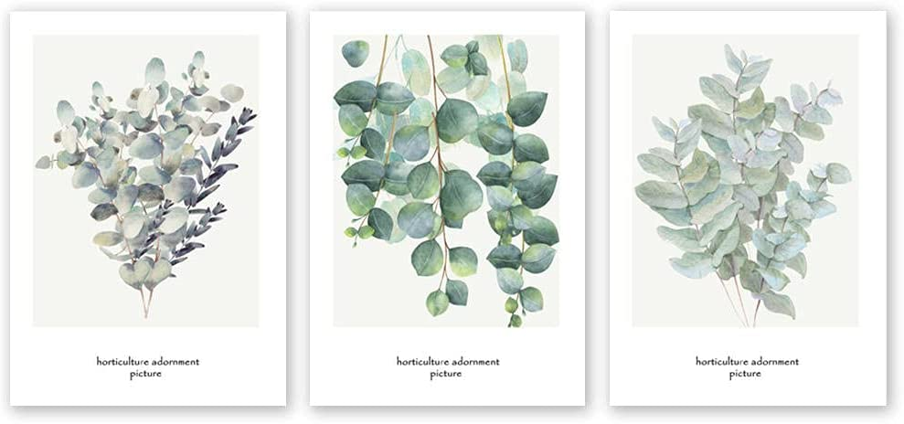 YFFYSY 3 Piece Nordic Leaves Same day shipping Plants Poster Branches W Free shipping / New Minimalist