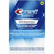 Crest 3D White Classic Vivid Teeth Whitening Kit, 20 Individual Whitestrips (10 Treatments)