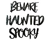 CRAFTERS SQUARE Halloween Themed Metal Crafting Words, 3.25 X 1.75 INCHES