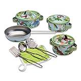 """Wobbly Jelly – """"Stampfe-Dino""""-Spielküche – 11-teiliges Spielküchenset für Kinder mit Töpfen und Pfannen – Kinder Küchenset"""