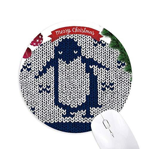 schéma de illiustration nordiques pingouin tricoter tapis de souris en caoutchouc de sapin de noël