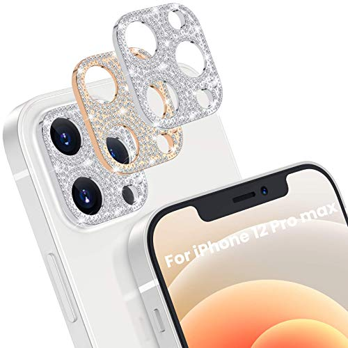 [2 Pack] Goton Bling Camera Lens Protector for iPhone 12 Pro Max, Glitter Diamond Lens Protective...