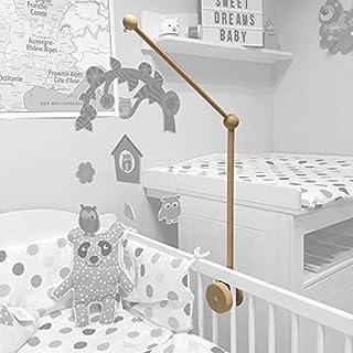 Support en bois pour mobile bébé (potence)