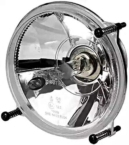 HELLA 1A3 996 162-381 Hauptscheinwerfer - FF/Halogen - H4/T4W - 12V - rund - Ref. 12,5 - glasklare Streuscheibe - Einbau - Einbauort: links/rechts