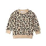 Bebé Niño Niño Niñas Suéter De Leopardo Camisa De Manga Larga Cheetah Cardigan Pullover Top Otoño Invierno Ropa - amarillo - 3-4 años