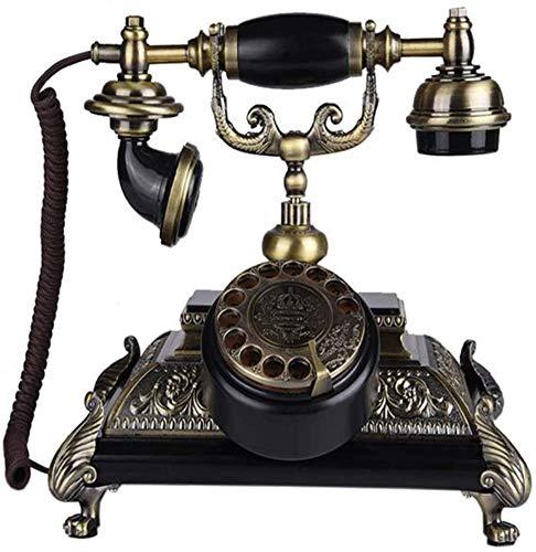 LNDDP Teléfono Antiguo inalámbrico Giratorio Europeo, teléfono Fijo para el hogar Teléfono Retro Dial Giratorio Suministros de decoración de Oficina Retro: Amazon.es: Deportes y aire libre