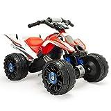INJUSA – Quad Honda ATV de 12V Licenciado con Cambio de Marchas y Freno Eléctrico Recomendado a niños +3 Años, Color Rojo