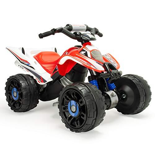 INJUSA – Quad Honda ATV de 12V Licenciado con Cambio de Marchas y Freno Eléctrico Recomendado a niños +2 Años, Color Rojo