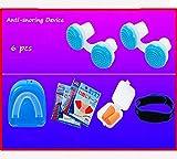 Dispositivo Anti Ronquidos eficaz   Stop Ronquidos   Dejar de roncar   Ronquido Stop   Dispositivo de protección antironquidos de primera calidad   Dilatador nasal   apnea del sueño ,Blue 6 pcs