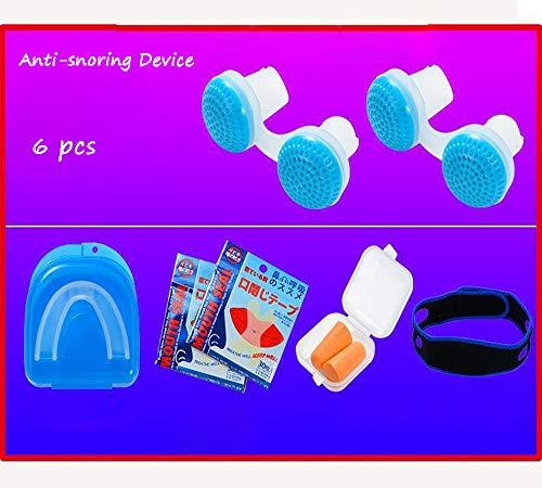 Dispositivo Anti Ronquidos eficaz | Stop Ronquidos | Dejar de roncar | Ronquido Stop | Dispositivo de protección antironquidos de primera calidad | Dilatador nasal | apnea del sueño ,Blue 6 pcs