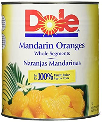 DOLE Mandarin Oranges Whole Segments In Light Syrup 106 Oz Can