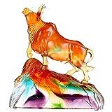 Figuras Decoracion Salon Bull Figurine Chinese Zodiac Bull, Home Feng Shui Decoración, escultura de toros como Metaphorical Bull Mercado Estatuilla para inversores financieros Gestores de dinero Objet
