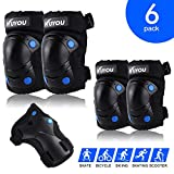 Knee Pads for Kids, Protective Gear Set Knee Pads Elbow Pads Wrist Guards 3 in 1 for Skateboarding Inline Roller Skating Cycling Biking BMX Ski Scooter