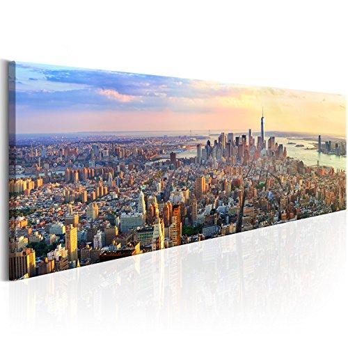 murando Acrylglasbild New York 120x40 cm 1 Teile Wandbild auf Acryl Glas Bilder Kunstdruck Moderne Wanddekoration - City Architektur Skyline d-B-0086-k-b