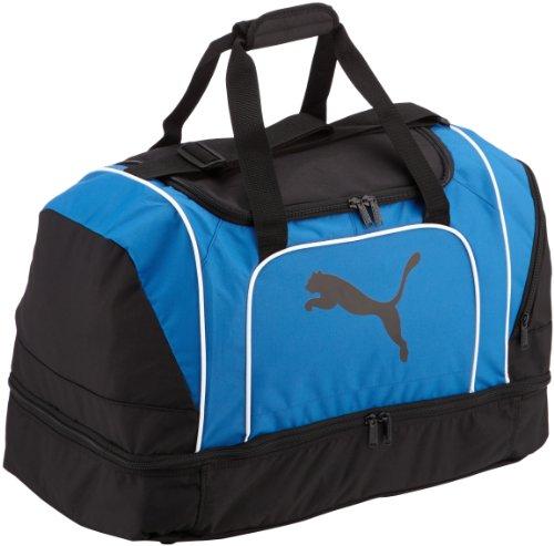 PUMA Tasche Cat Football Bag Sporttasche, Black-Team Power Blue, 58 x 38 x 31 cm