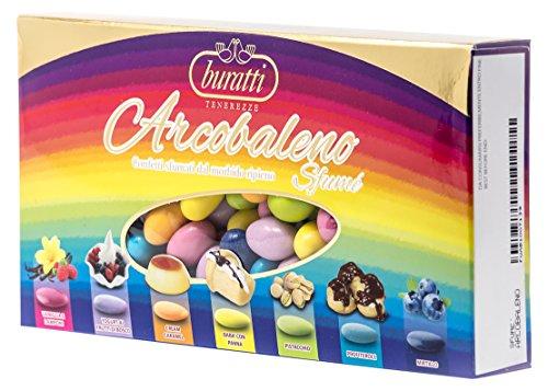 Buratti Confetti Multi Sapore e Multicolore, Tenerezze Sfumè Arcobaleno - 1000 g
