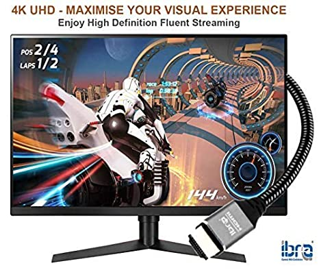 Video UHD 2160p 3D for Xbox PlayStation PS3 PS4 PC Projector IBRA HD 1080p Ultra High-Speed 18Gbps HDMI 2.0b Cord 4K@60Hz Support Fire TV 4K HDMI Cable 10M HDMI Lead Ethernet Audio Return