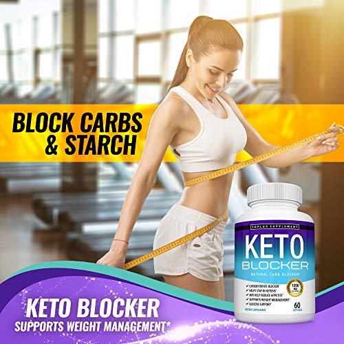 Keto Blocker Pills White Kidney Bean Extract - 1200 mg Natural Ketosis, Support Keto Diet, for Men Women, 60 Capsules, Toplux Supplement 6