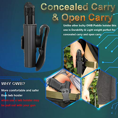 cavebear OWB Paddle Holster for Springfield Armory XD-S 9MM/.40/.45 3.3