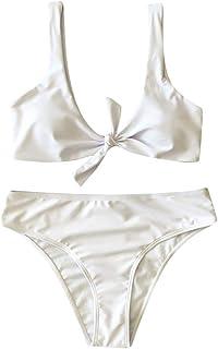 Kexdaaf Summer Swimwear 2019 Womens Tankini Bikini Set Casual Push up Padded Skirted Swimsuit Bathing Suit Two Piece