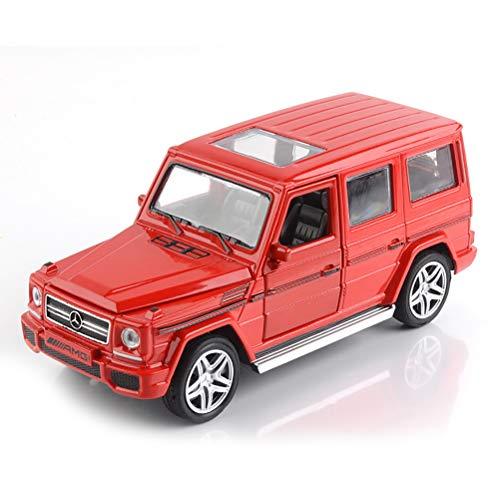 WYXR De fundición de aleación Modelo de Coche, 1:32 Modelo de Coche Mercedes-Benz G65 con el Modelo de la función de luz y Sonido,Rojo