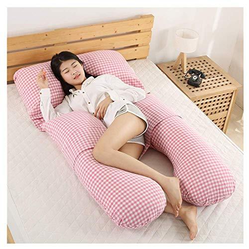 SYue Almohada posicional Lateral de la Cintura Desmontable de la Almohada del Embarazo del algodón, sueño asistido