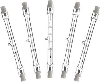 EBDcom 118mm 150W Halogen Bulb (5 Pack) Dimmable 118mm J-Type 150W 110-130V R7S Base J Type T3 118mm Double Ended Halogen Light Bulbs for Study,Work