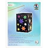 Ursus 2340099 - Laternen Bastelset Sterne, ca. 14 x 14 x 20 cm, 10 Blatt Transparentpapier in 10 verschiedenen Farben, mit schwarzem Fotokarton 300 g/qm, ideal für den nächsten Laternenlauf